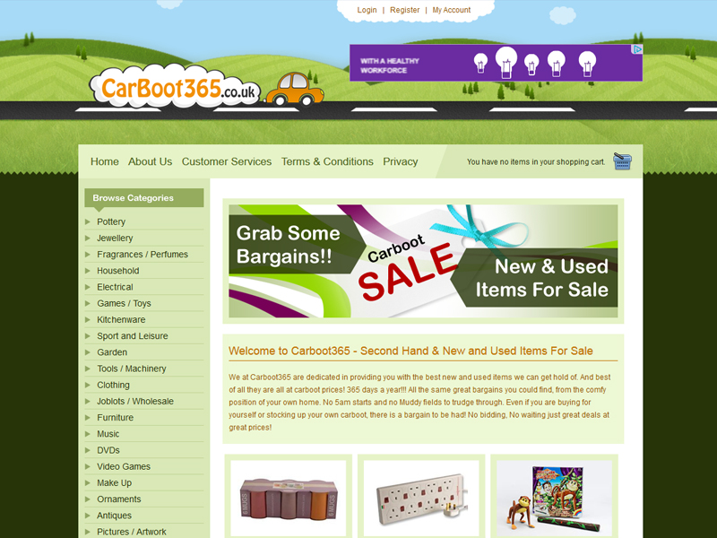Online Carboot eCommerce Site