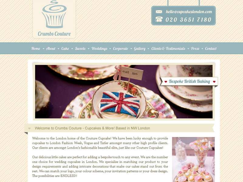 London Bakery Website