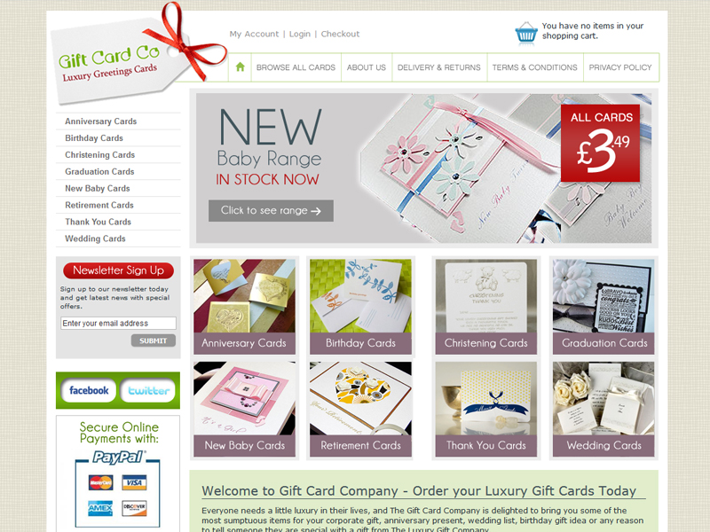 Gift Company eCommerce Website
