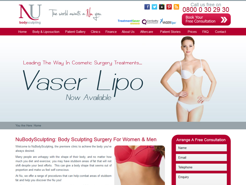 Liposuction Clinic Web Design