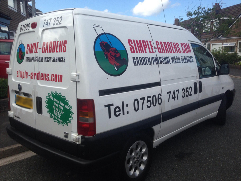 Gardening Logo For Vehicle Wrapping