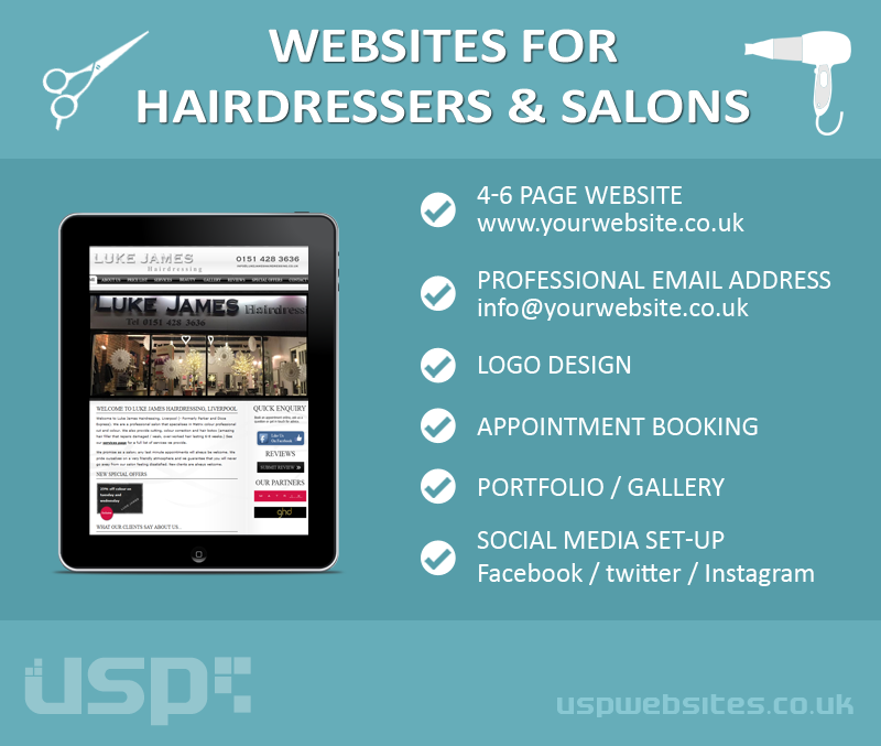 Websites For Hairdressers and Salons