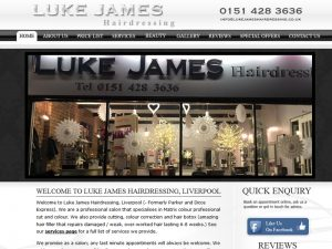Hairdressing Website Design