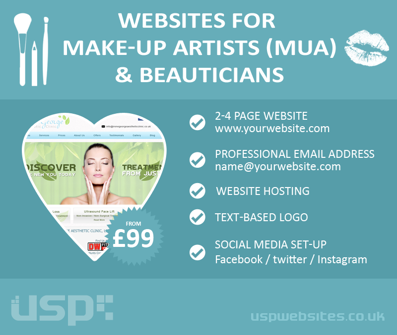 Make-Up Artist & Beautician Web Design