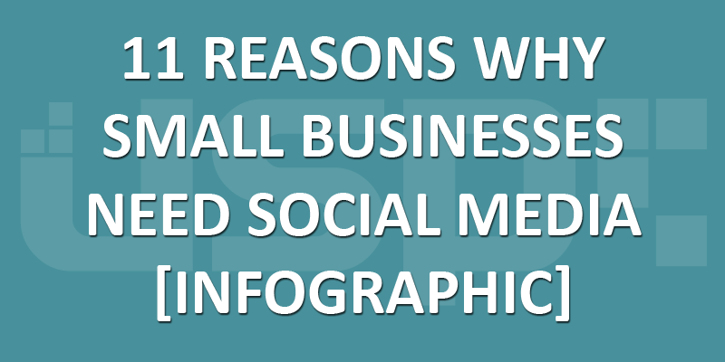 11 Reasons Why Small Businesses Need Social Media [Infographic]