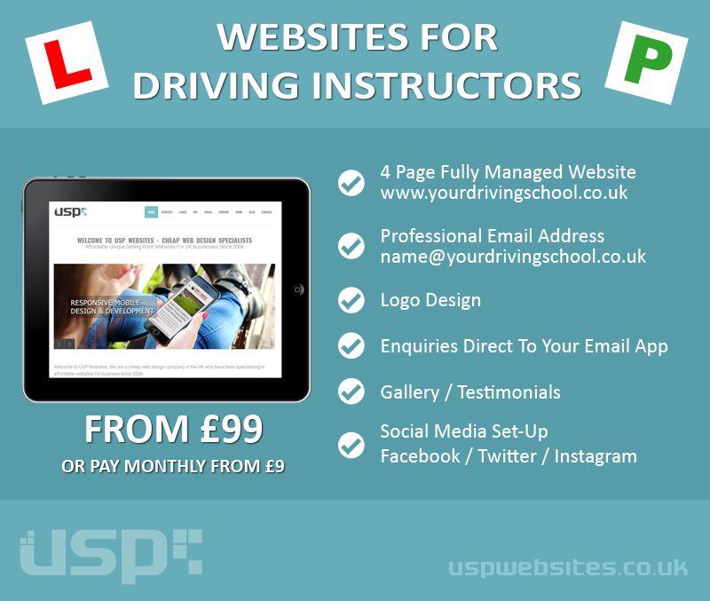 Websites For Driving Instructors & Driving Schools