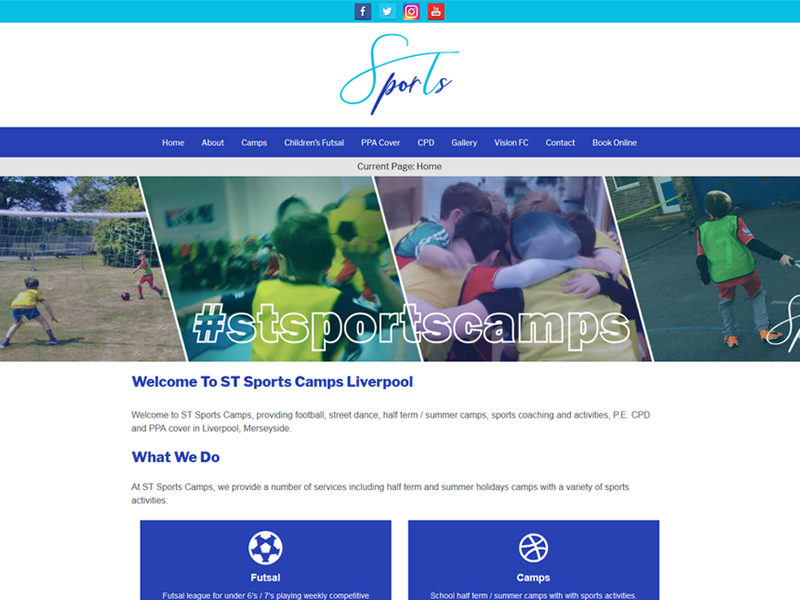 School Sports Camp Website